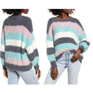 Dreamers Stripe Eyeash Stripe Tunic Sweater